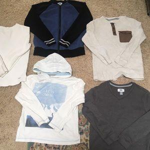 Bundle of 5x long sleeve Old Navy Boys shirts